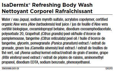 Isagenix Body Wash Ingredients