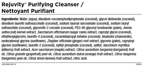 Cleanser Ingredients