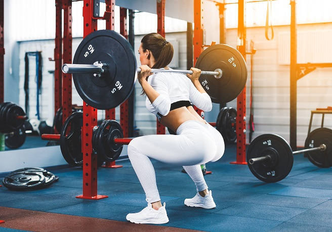 Squats work a range of leg muscles