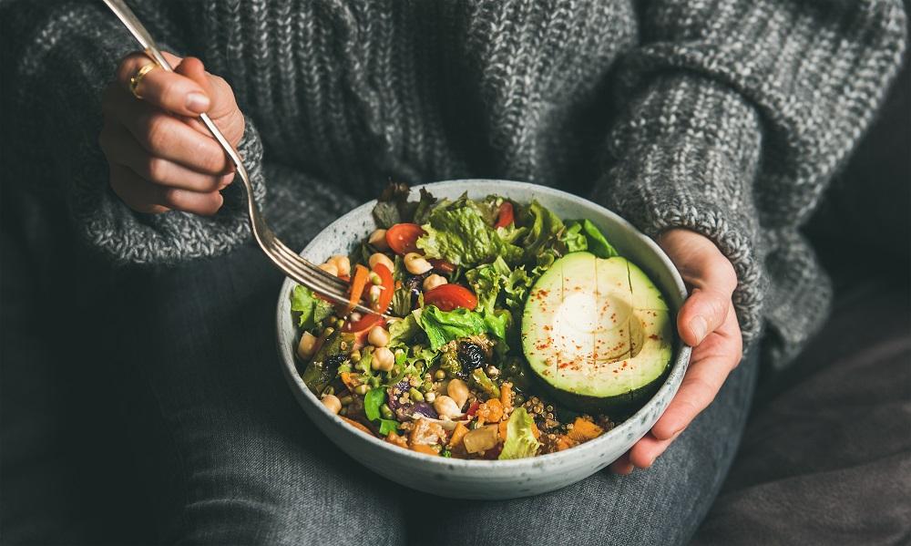 Healthy vegetarian dinner