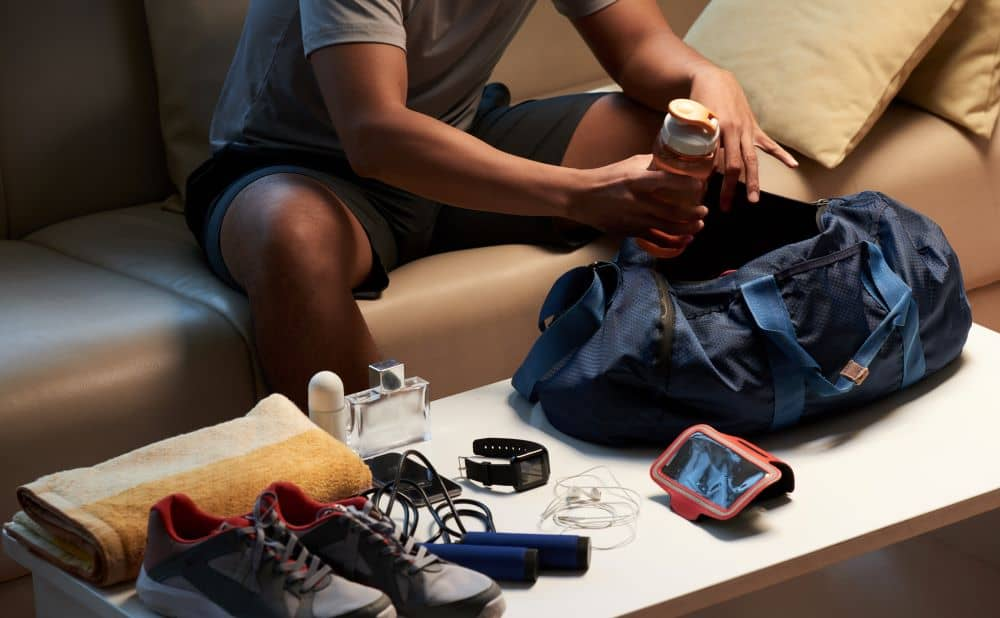 Prepare your fitness accessories the night before your early workout.