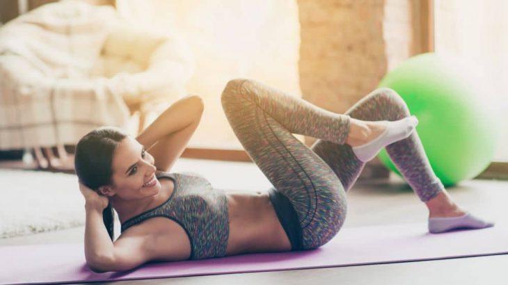 Knee to elbow exercise