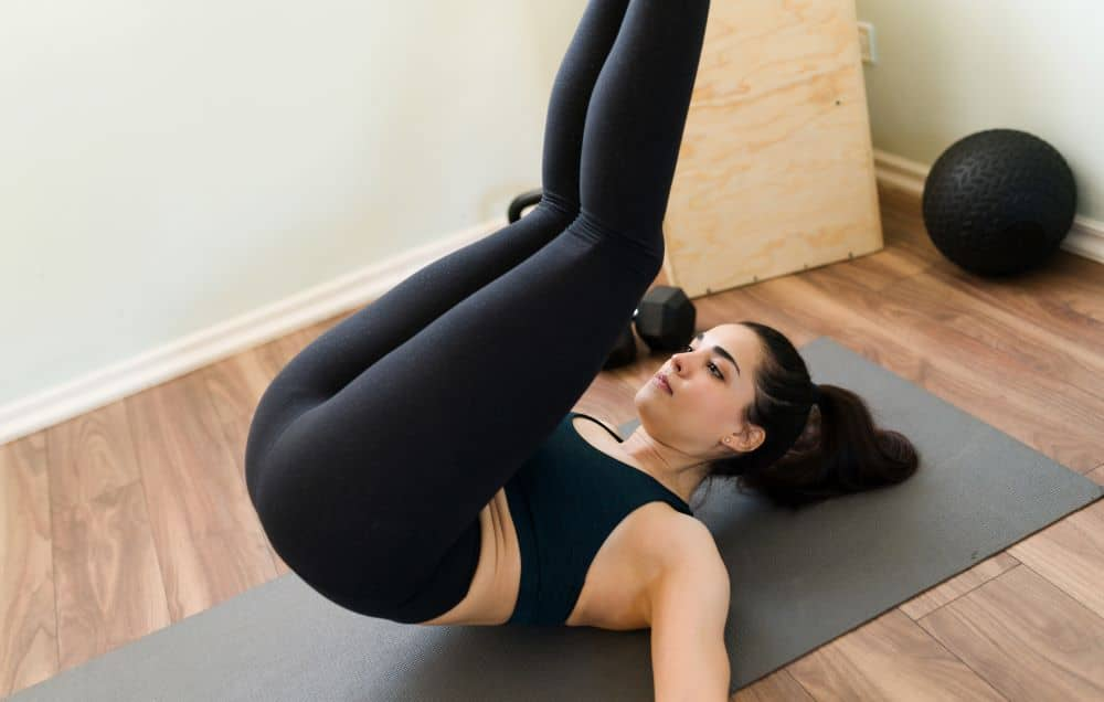 Reverse crunch is one of the most effective moves to lose lower belly fat.